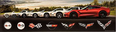 7 Corvette Generations Panorama • Gallery Wall Art • #VE1117977