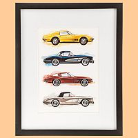Corvette Cars • Framed Gallery Wall Art • #VE1297183
