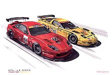 24hrs. of Le Mans, Ferrari and Corvette, Item #UE6366LM04