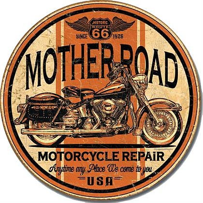 US66 Motherroad Wheathered Tin Sign • #BI1697TS