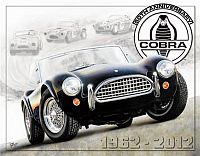 Tin Sign Cobra 50th Anniversary • Shelby Cobra 50th Anniversary 1962 - 2012 • DE#HR1847TS