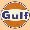 Gulf Oil Embossed Tin Sign • #HL134353