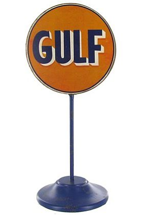 Gulf Oil Metal Stand Sign • #HL215921