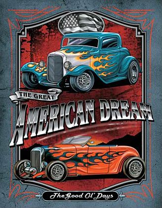 Tin Sign Hot Rod • American Dream Hot Rod • DE#HR1534TS