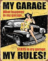 Tin Sign MY GARAGE • My Garage My Rules! • DE#HR1671TS