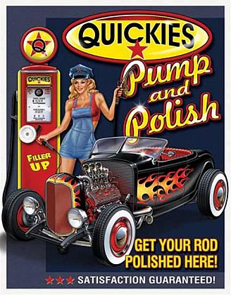 Tin Sign Hot Rod • QUICKIES • DE#HR1746TS