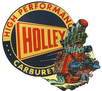 High Performance HOLLEY Carburetors • Embossed Tin Sign • #HR123026TS