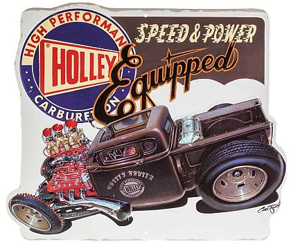 High Performance HOLLEY Carburetors • Embossed Tin Sign • #HR1230261TS