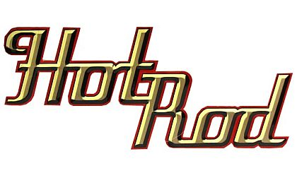 Hot Rod • Die-cut Embossed Tin Sign • #HR730853TS