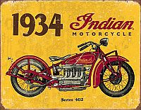 1934 Indian • TIN SIGN • #IN1929TS