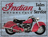 Indian Parts and Service • TIN SIGN • #IN1931TS