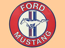 12'' Ford Mustang Embossed Round Tin Sign • #M294603TS