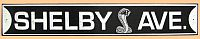 Shelby Avenue Embossed Tin Sign • #S300616TS