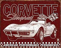 C3 Corvette Stingray & American Performance Personified • Tin Sign • #VE2138TS