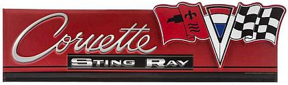 Corvette Sting Ray Coupe Die Cut Tin Sign • Embossed Tin Sign • #VE1006923TS