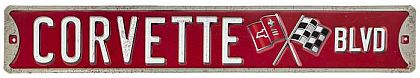 Corvette Blvd Die Cut Tin Sign • Embossed Tin Sign • #VE1117670TS