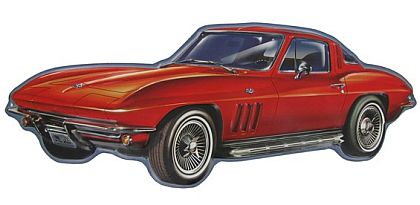 1965 Corvette Sting Ray Coupe • Embossed Tin Sign • #VE302927TS