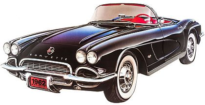 Corvette Convertible Die Cut Tin Sign • Embossed Tin Sign • #VE5207477TS