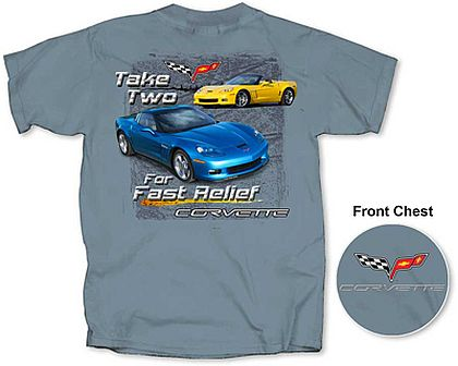 C6 Corvette Take Two For Fast Relief • Front and Back Design • #C6T1363