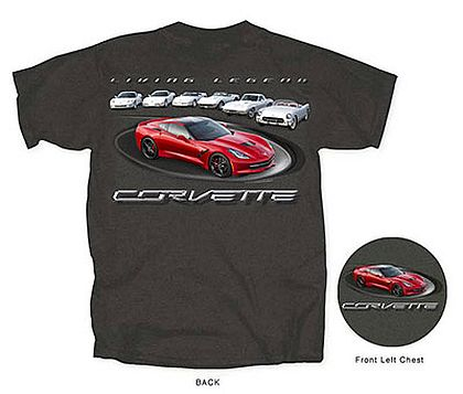Living Legends • C7 Corvette Stingray with C1 to C6 Corvettes • #C7T16708