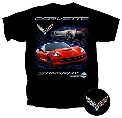 C7 Corvette Stingray Coupe and Convertible T-Shirt • #C7T16709