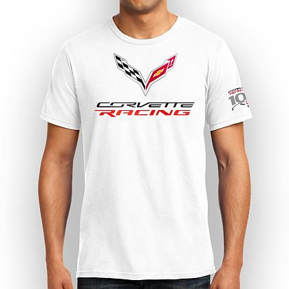 Corvette Racing 100 Wins Tee • White T-shirt • #CRT424