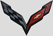 C7 Corvette Emblem 2016 carbon black