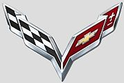 C7 Corvette Emblem 2014 chrome